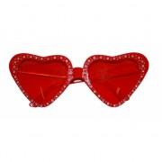 Rode hartjes zonnebrillen