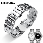 CHIMAERA 22mm 23 24 T035617 T035439 Watchband 316L Silver Solid Stainless Steel Watch Link for Tissot Couturier T035 Watch band