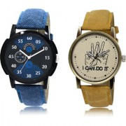 The Shopoholic Black Blue Brown Combo Fashionable Funky Look Black And Blue And Brown Dial Analog Watch For Boys Mens Stylish Watches