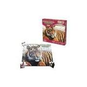 Quebra-Cabeça Ecológico Tigre, 48 Peças em Madeira, Embalagem Caixa Cartonada Ciabrink