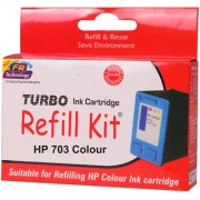 Turbo ink refill kit for HP 703 color ink cartridge