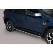 Coppia set pedane sottoporta laterali TUNING SUV DACIA DUSTER 2018- acciaio INOX modello Grand ovali anche nero opaco