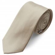 TND Basics Cravate brillante de couleur Champagne - 6 cm