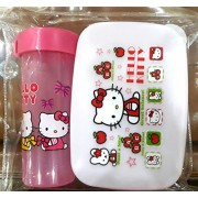 Lunch Box Combo for Kids with Colorful Pictures, Zipper Bag Packing, Best Gift Toy, Multi-Color (Set of 2 Pcs)