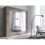 Smartshop ALIFA šatní skříň se zrcadlem 150 TYP 16, dub sonoma světlý
