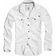 ing férfi Brandit - Men Shirt Slim Weiss - 4005/7