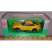 Welly 1974 Porsche 911 Turbo 3.0 1:24 Die Cast Car, Yellow