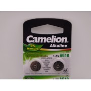 Camelion AG10, baterie ceas 1.5V alcalina, LR1130, LR54, 189, SR1130W, GP89A, 389 blister 10