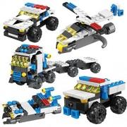 Fun Little Toys Building Blocks for Toddlers, 8 Types of Transformers, 206 Pcs 3D Nanoblock, DIY Bricks Sets, Stem Education Toy Kids Boys and Girls