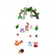 Small Foot Kinderkamer decoratie mobiel bosdieren voor jongens