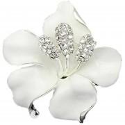 Louiwill EerWomen Flor De La Manera Rose Colorida Elegante Del Rhinestone Broche