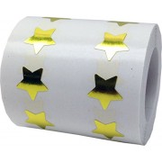 "Tiny 1/2"" Inch Gold Star Stickers Used For Teacher Stickers and Award Stickers. Gold Stars Are Adhesive Stars And Are Apparel Safe. Sticker Stars Are Fun and Easy To Peel And Apply. 1,000 Total Star Stickers"