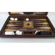 Joc table backgammon Star Leather Mare 48x60 cm