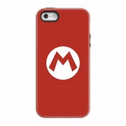 Nintendo Funda móvil Nintendo Mario Logo para iPhone y Android - iPhone 5/5s - Carcasa doble capa - Brillante