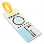 Идентификатор за багаж PINKO - Balcone Portanome PE 19 PLTT 1P21CE Y5FJ White I09
