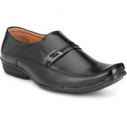 Shoe Rider Men's Black Synthetic Leather Formal Shoes