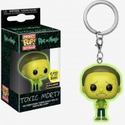 Funko Pocket Pop Toxic Morty Llavero Brilla En La Oscuridad