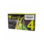Wellion Medfine Plus 4mm 32g - 100 Aghi Sterili Per Penna Da Insulina