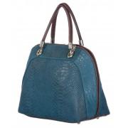 CHIARO SCURO Borsa donna in vera pelle CHIARO SCURO mod. CHIARA colore BLU Made in Italy