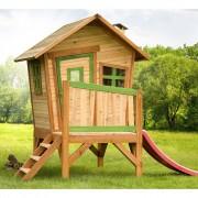 AXI Venkovní dětský hrací domeček dřevěný se skluzavkou Robin