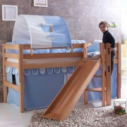 Kinder-Hochbett aus Buche Massivholz Tunnel