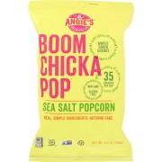 Angie's Kettle Corn Boom Chicka Pop Sea Salt Popcorn - Case of 12 - 4.8 oz.