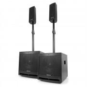 "Vonyx VX1000BT 2.2, комплект активни тонколони, 1000 W, 10"" субуфер, BT, USB, SD, MIC, AUX (170.104)"
