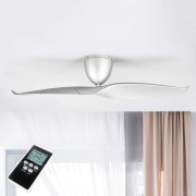 Wave two-blade silver ceiling fan, 126