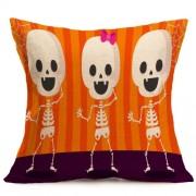 Halloween Decoration Pattern Car Sofa Pillowcase with Decorative Head Restraints Home Sofa Pillowcase G Size:43*43cm -HC3203G