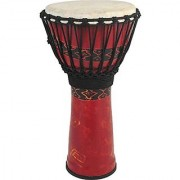 Toca SFDJ-9RP Freestyle Rope Tuned 9-Inch Djembe - Bali Red Finish