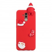 3D Paster Santa Claus Ornament Pattern TPU Protective Case for Huawei Mate 20 Lite (Red)