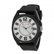 Crayo Sunset Unisex Watch w/Magnified Date - Black CRACR3302