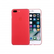 Para Iphone 7 Plus Frosted Protector Transparente Volver Funda (rojo)