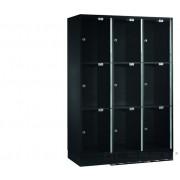 INTRO Lockerkast met 9 transparante deurtjes