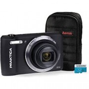 Praktica Digital Camera Luxmedia Z212 20 Megapixel Black + 32GB Micro SD Card + Case