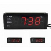 Szivargyújtós óra+hőmérő+akku teszter 12/24V