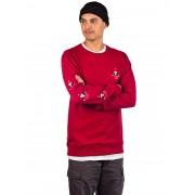 Volcom Santastone Crew Sweater : deep red - Size: Extra Large