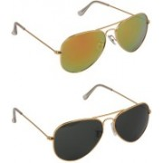 Nirosha Aviator Sunglasses(Multicolor)