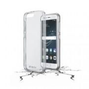 Калъф за Huawei P10, страничен протектор с гръб, гумен, Cellular Line Clear Duo, прозрачен