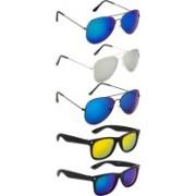NuVew Aviator, Wayfarer Sunglasses(Blue, Golden, Green, Blue, Silver, Violet)