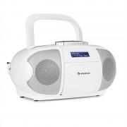 auna BeeBerry DAB Boombox Stereo Portatile Musicassette USB CD MP3 Bianco