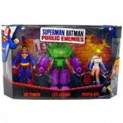 Mattel Superman/Batman Public Enemies Mini Figure 3-Pack Superman Lex Luthor & Power Girl