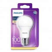 Bec LED Philips 13W (100W), E27, luminca calda 2700K