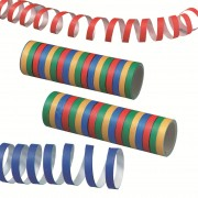 Panglica din hartie pentru party, galben/verde/rosu/albastru, 400cm/rola, 2 role/set, HERLITZ