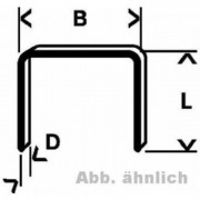 BOSCH Agrafes a fil fin type 58 - 13 x 0.75 x 14 mm - Lot de 1000