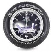 Стенен часовник-автомобилна гума със скрита камера