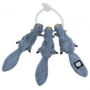 The Walking Dead Daryl's Squirrels-on-a-Rope Plush Chew Toy by Walking Dead
