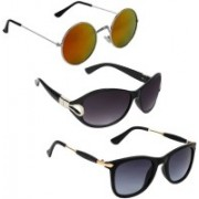 Vitoria Wayfarer, Round, Over-sized Sunglasses(For Girls)