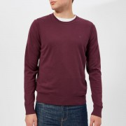 Michael Kors Men's Cotton Crew Neck Knitted Jumper - Cordovan - S - Purple
