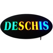Reclama luminoasa tip panou model DESCHIS